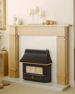 Vaolr Black Beauty radiant outset gas fire