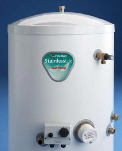 Gledhill Stainless Lite HP unvented hot water cylinder for use with heat pumps