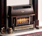 Outset gas fire